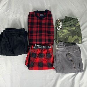 Bundle of boys sweatpants and PJs